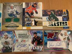 14-Lot NHL 2020-21 Upper Deck Auto Game Jersey Patch Cards #d SP SPX Artifacts
