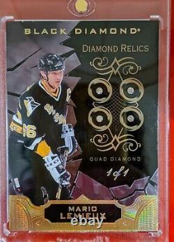 18/19 Black Diamond Mario Lemieux Quad Diamond 1 of 1 BDB-ML Diamond Relics