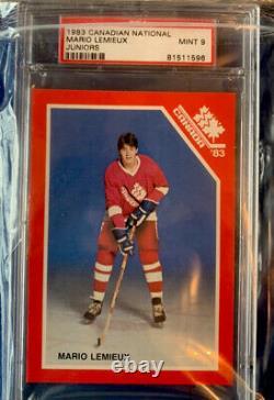 1983 Canadian National Juniors Mario Lemieux RC PSA 9 MINT Pittsburgh Penguins