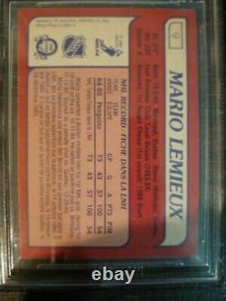 1985 1985-86 O-pee-chee Mario Lemieux Rookie Bgs 8.5 Nm-mt+ 9 Penguins
