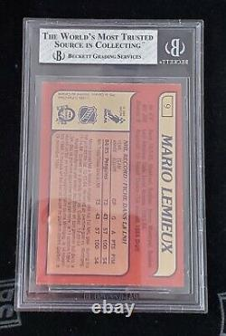 1985 1985-86 O-pee-chee Mario Lemieux Rookie Bgs 8 Nm-mt 9 Penguins DC
