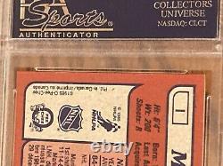 1985 85-86 Opc O-pee-chee Box Bottoms # I Mario Lemieux Rc Rookie Psa 9 Pop = 5