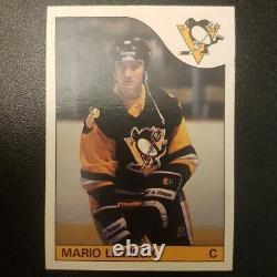 1985-86 Mario Lemieux #9 O-Pee-Chee OPC Rookie Card RC Original Penguins NrMt