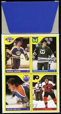 1985-86 OPC HOCKEY WAX BOXES (4) With GRETZKY LEMIEUX ROOKIE RC UNCUT BOX BOTTOMS