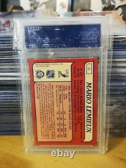 1985-86 OPC O-PEE-CHEE Mario Lemieux #9 Rookie Card PSA 8 RC No Qualifiers
