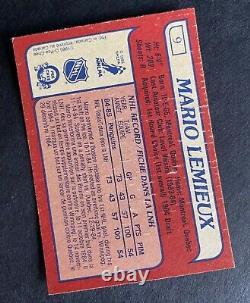1985-86 OPC O-Pee-Chee #9 MARIO LEMIEUX Rookie Card