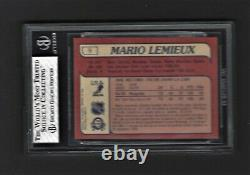 1985-86 O-PEE-CHEE #9 MARIO LEMIEUX ROOKIE STRONG BGS 8 With8, 8, 8.5 & 9 SUBS