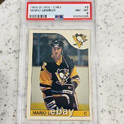 1985-86 O-Pee-Chee Mario Lemieux Rookie Card PSA 8 NM-MT