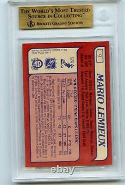 1985-86 O-Pee-Chee OPC Mario Lemieux #9 Rookie BGS 9.5 Gem Mint with 2 10's