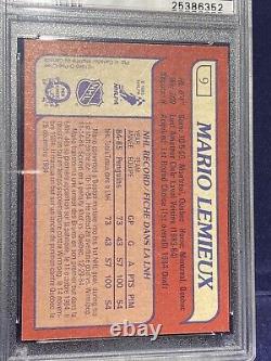 1985-86 O-Pee-Chee OPC Mario Lemieux RC Rookie PSA 8 NM-MT No Qualifiers! Hot