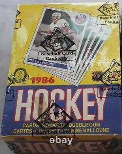 1985-86 O-pee-chee Opc Hockey Wax Box Tape In Tact Bbce