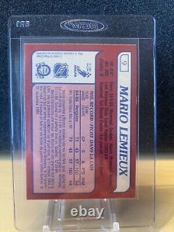 1985 86 Opc #9 Mario Lemieux Rc Rookie Card! Ungraded