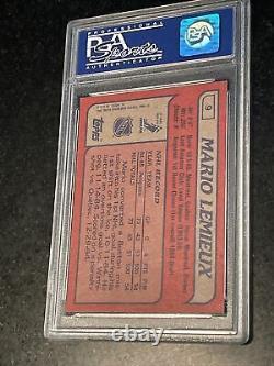1985-86 Topps #9 Mario Lemieux Rookie Card Psa 8 Nm-mint Fantastic Centering Rc