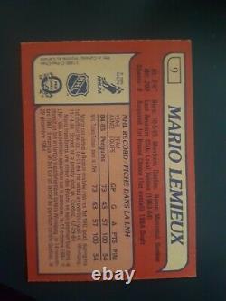 1985 Mario Lemieux ROOKIE RC OPC#9 SHARP