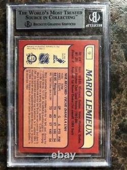1985 OPC BGS 9 Mario Lemieux RC