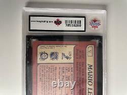 1985 OPC Hockey #9 Mario Lemieux Rookie Card KSA Graded 9.5 Near Gem Mint