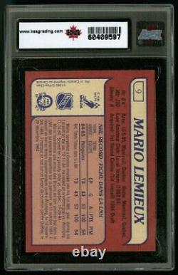 1985 O-pee-chee 9 Mario Lemieux Ksa 9.5 100% Factory Hq No Taxes Fedex Fast Ship