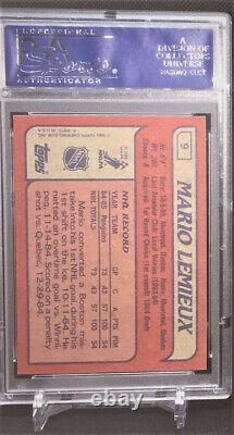 1985 Topps Hockey Mario Lemieux ROOKIE RC #9 PSA 10 GEM MINT