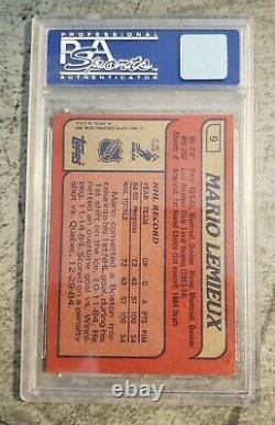 1985 Topps Hockey NRMT-MT COMPLETE SET! Lemieux RC #9 PSA 8