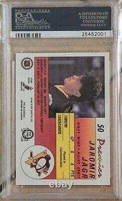 1990-91 O-pee-chee Opc Premier Jaromir Jagr Rc Rookie #50 Graded Psa 10 Gem Mt