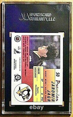 1990 Jaromir Jagr Rookie Rc Gold Label O-pee-chee Opc #50 Premier 10 Pristine