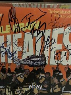 1991 Wheaties Box Signed NHL Stanley Cup Champions Francis Jagr Barrasso Lange
