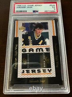 1996-97 Upper Deck Jaromir Jagr Game Used Jersey PSA 5 EX Rare