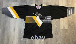 1997-2002 PITTSBURGH PENGUINS HOCKEY JERSEY NHL CCM L Robo Gradient VINTAGE