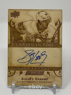 19/20 Engrained Carved in Time Signatures Auto #CTS-5 Sidney Crosby Penguins SSP