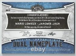 19-20 Leaf Lumber Kings Dual Nameplate Jaromir Jagr/Mario Lemieux 1/1 DM-01