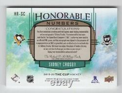 19-20 Upper Deck The Cup Honorable Numbers Patch/Autograph Sidney Crosby 1/7