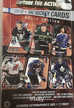 2001/02 Topps Stadium Club Relic Edition Hockey Hobby Box NHL Award Winner Set