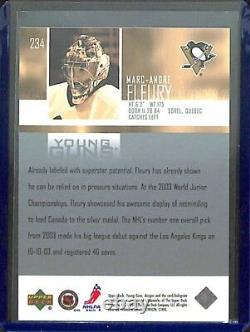 2003-04 Upper Deck Hockey Young Guns #234 Marc-Andre Fleury