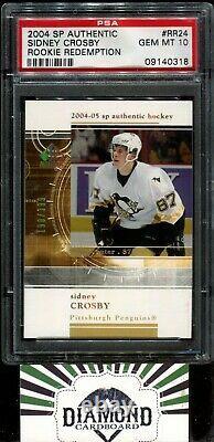 2004 SP Authentic #RR24 Sidney Crosby Rookie Redemption PSA 10 GEM MINT RC