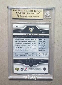 2005-06 Black Diamond Sidney Crosby Rookie BGS 9.5 Quad Diamond #193 RC 10 Sub