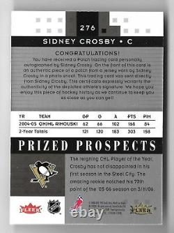 2005-06 Fleer Hot Prospects SIDNEY CROSBY #276 Rookie Patch Autograph 128/199