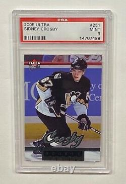 2005-06 Fleer Ultra Hockey Sidney Crosby Rookie Card #251 Hof Pens Psa 9 Mint