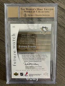 2005-06 SP Authentic Sidney Crosby RC Rookie BGS 9.5 Gem Mint 10 Auto FW #181