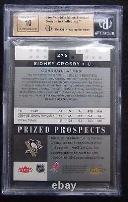 2005-06 Sidney Crosby Hot Prospects Rpa Rookie Patch Auto /199 Bgs 9.5 Pop 1/1