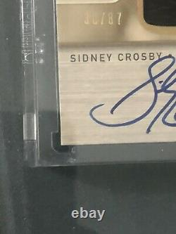 2005-06 Sidney Crosby UD The Cup Honorable Numbers Rookie Patch Auto 30/87