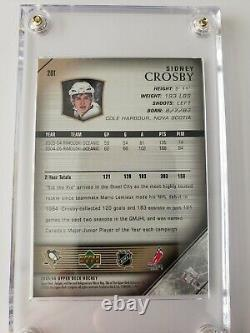 2005/06 Sidney Crosby Upper Deck Young Guns Rookie Card #201 MINT