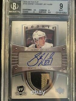 2005-06 The Cup Sidney Crosby /99 Rookie Auto Patch Rpa Bgs 9 RC