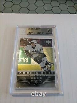 2005-06 UD Black Diamond #193 Sidney Crosby Rookie BGS 9.0 GEM MINT