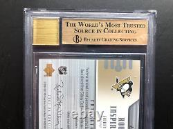 2005-06 Ud Rookie Update Inspiration /199 Sidney Crosby Bgs 9.5 Auto Bgs10 Pop 3
