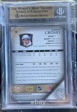 2005-06 Upper Deck Young Guns #201 Sidney Crosby BGS 10