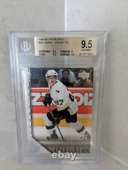 2005 Sidney Crosby UD #201 Young Guns BGS 9.5 GEM MINT PSA 10