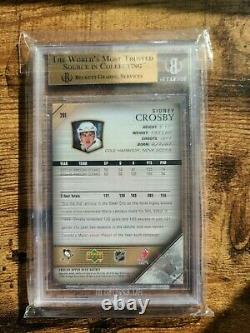 2005 Upper Deck Sidney Crosby Young Guns RC #201 BGS 9.5 GEM MINT with 10 subgrade