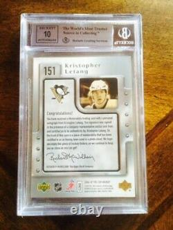 2006-07 Kris Letang Rc Rookie The Cup Ud Bgs 8.5 Patch #151 Patch 10 Auto /249