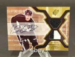 2006-07 SPx #193 Evgeni Malkin RC 387/799 Auto with 2 Color Swatch