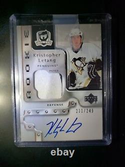 2006/07 Upper Deck UD Cup Rookie RC Letang Penguins Patch 211/249 NM-M Signed